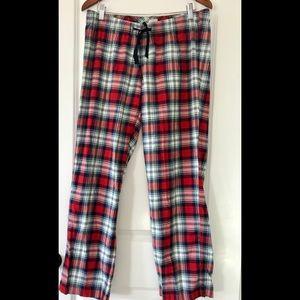 J. Crew pajama bottoms plaid drawstring waist